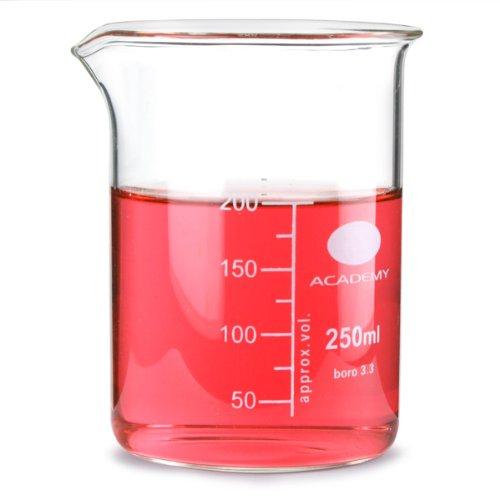 Glazen maatbeker 200 ml | Lage maatbeker, maatbeker, borosilicaatbeker