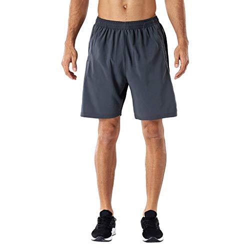 serliy Herren Sport Shorts Schnell Trocknend Kurze Hose mit Reißverschlusstasch Reißverschluss Atmungsaktiv Schnell Trocknend Sport Shorts