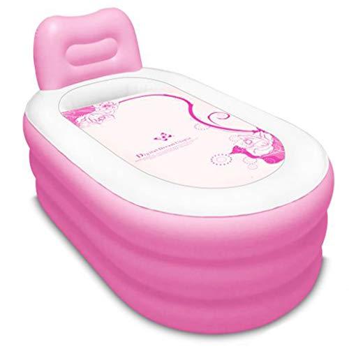 Baignoire Gonflable, Baignoire en Plastique pour Baril de Bain pour Adultes Pliant Le Bassin de baignade d'épaississement - Rouge (Taille : 130cm*70cm)