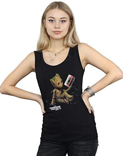 Marvel Damen Guardians of The Galaxy Groot Tape Muskelshirt Schwarz Medium