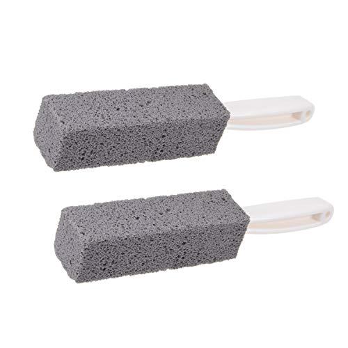 SIVENKE 2 piedras pómez limpiadoras con mango, para barbacoa, cocina, baño, piscina, lavabo, cuidado de los pies