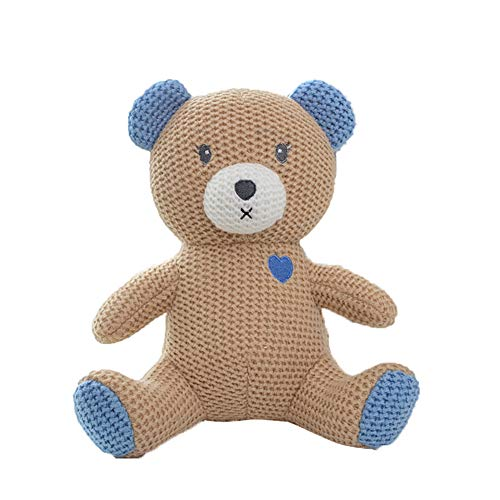 Xiton 1 stück gestrickte Puppe niedlichen stofftier plüschtier Tier gestrickte Puppe stofftiere für Kinder(bär)