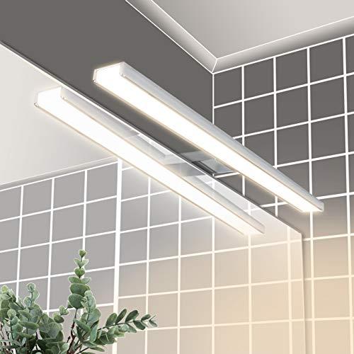 LED Spiegelleuchte 40cm 8W 640lm, Wowatt Spiegellampe LED Bad 4000mm Badezimmer 2800K Warmweiß Badleuchte IP44 Wandmontage Schanklampe Klemmleuchte Schminklicht Schrankleuchte mit Verbindungsbox 230V
