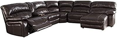Amazon.com: Furniture of America Conan Bonded Leather Match ...