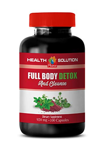 Liver Support Supplement Milk Thistle - Full Body Detox and Cleanse 920 MG - Milk Thistle red Clover - 1 Bottle 100 Capsules