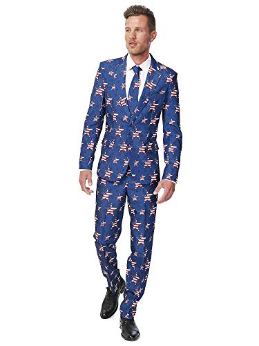Generique - Costume Mr. USA Stars Homme Suitmeister Taille L