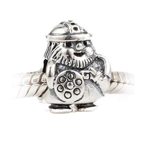 Andante-Stones - original, plata de ley 925 sólida, cuenta de plata Vikingo caribeño, elemento bola para cuentas European Beads + saco de organza