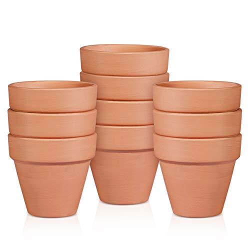 BESTonZON Vaso di Terracotta in Terracotta Confezione da 10 - Mini Vaso di Piante Vivaio del Mestiere Permeabile Allacqua Succulente Cactus Vaso di Ceramica Fai da Te Home Office Desktop