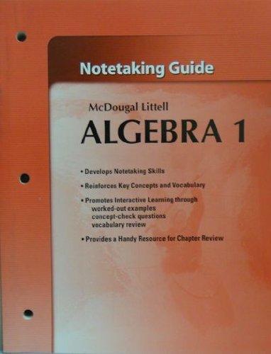 McDougal Littell Algebra 1: Student's Notetaking Guide