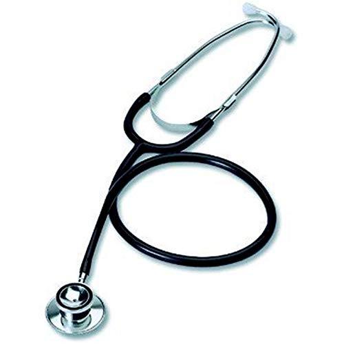 Biotec Fonendoscopio Adulto, Doble Campana, Acero Inoxidable, Color Negro