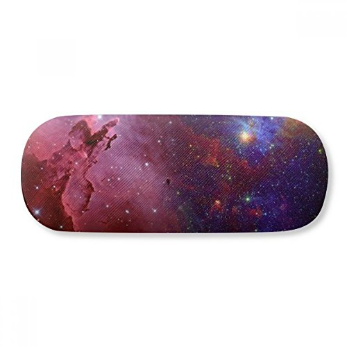 Blue Red Clouds Stars Galaxy Glasses Case Eyeglasses Clam Shell Holder Storage Box