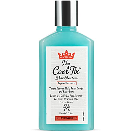 Shaveworks The Cool Fix Aftershave for Women: Pubic Hair Removal, Razor Bumps, Razor Burns, Ingrown Hair Treatment – After Shaving Post Waxing Bikini Area Moisturizing Skin Care Gel 5.3 Fl Oz
