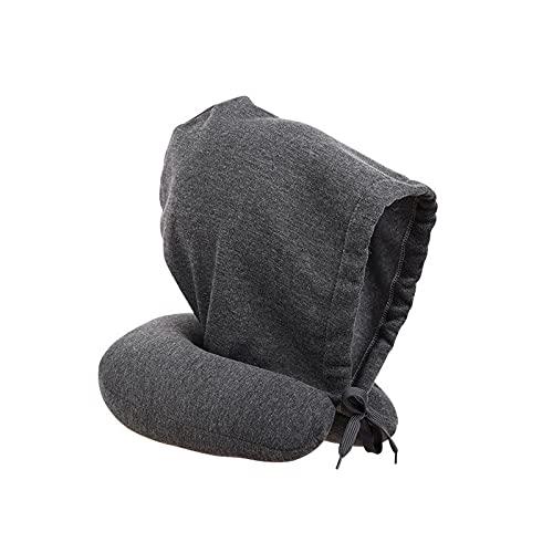 Almohada de Cuello ushaped, Almohada de Cuello multifunción, con un Bolsillo de Cuerda, Lleno de partículas de Espuma, es una Necesidad para Viajar