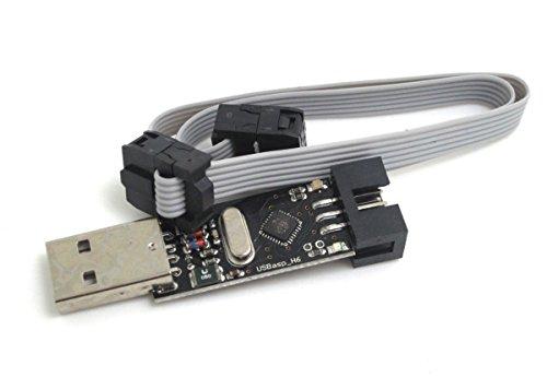 DollaTek USBASP USBISP AVR USBasp_H6 Programmer + 6Pin Kabel ideal Unterstützung Win7 Win10 Linux