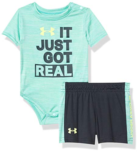 Under Armour Baby Boys' UA IT JUST GOT Real Set, Radial Turquoise, 6/9M