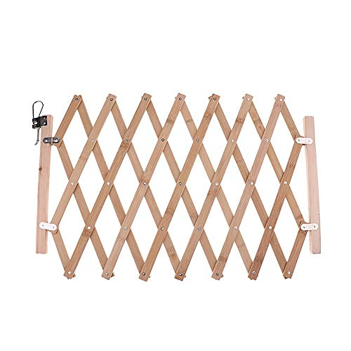 WElinks Stair Gate Dog Guard, Pet Portable Indoor Wood Barrier Protectors, Dog Safety Gate, Retractable Dog Fence, Folding Dog Sliding Door for Home Doorway Room Doorway Stairs Kitchen