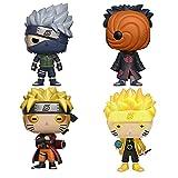 4Pcs Pop Naruto Shippuden Anime Figuras De Acción Juguetes 186 Six Path 185 Sage Model 182 Kakashi 184 Tobi Collection Modelo De Personaje 10Cm