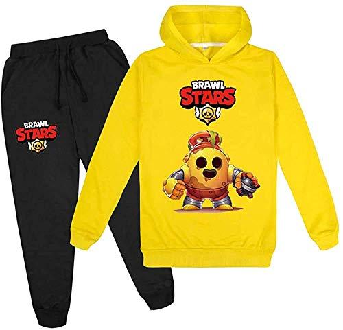 Brawl Stars Youth Fshion Logo Hoodie und Sweatpants 2 Stück Pullover Sweatshirt Anzug für Jungen Mädchen Jugendliche Teens Gr. 9-10 Jahre, Brawl Stars6