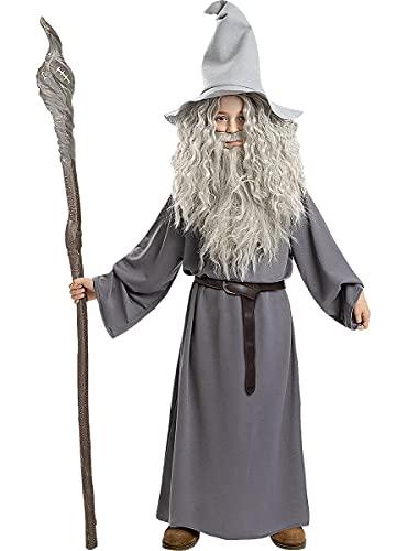 Funidelia   Disfraz de Gandalf - El Señor de los Anillos Oficial para niño Talla 7-9 años ▶ El Señor de los Anillos, Películas & Series, El Hobbit, Magos - Color: Gris / Plateado