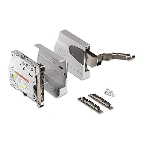 Blum Klappenbeschlag AVENTOS HK 20K2900 (LF 3200-9000) mit Blumotion für Hochklappen Öffnungswinkel 100° inkl. Abdeckkappen grau und Frontbefestigungsset von SO-TECH®