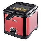 Emperial Deep Fat Fryer Red 1.5 Litre Non Stick Chip Pan Oil Fry