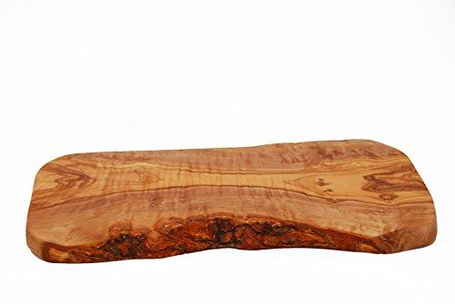 Purple Olive - Tabla para picar o servir alimentos, hecha de madera de olivo, estilo rústico, longitud de 30 x 15 x 2cm