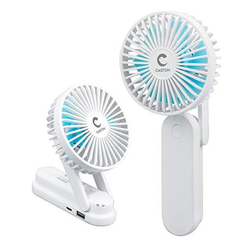 NAKO 携帯扇風機 手持ち扇風機 usb 静音 折り畳み式 卓上扇風機 小型 軽量 大風量 3段階風量調節 ミニファン (ホワイト)