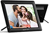 APEMAN Digital Photo Frame, 8 Inch 4:3 High Resolution IPS Screen Digital Picture Frames Display MP3/Video Player/Calendar/Alarm Clock with Remote Controller Support USB/SD Card, Gift Choice