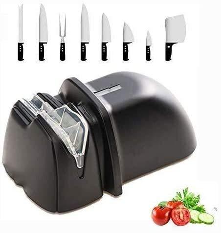 Xiaoyue Kleine schnelle Messerschleifer, elektrische Keramikmesser Steel Grinder Rotating Schärfsystem Grinder Outdoor-Küche Schärfwerkzeuge-H 3,18 Inch lalay