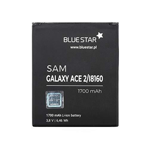 Blue Star Premium - Batería de Li-Ion litio 1700 mAh de Capacidad Carga Rapida 2.0 Compatible con el Samsung Galaxy Ace 2 i8160 / S7562 Duos
