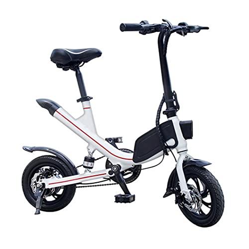 ZXQZ Bicicletas Eléctricas Plegables, 36V 7.8AH Ebike para Adultos, Bicicleta Deportiva de Cercanías, Modelos de Pareja (Color : White)