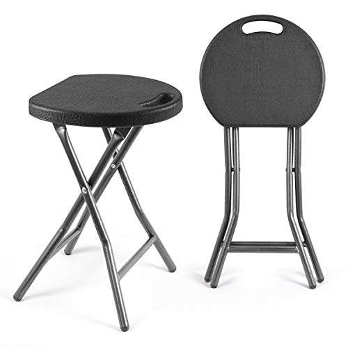 TAVR Portable Folding Stool 18.1 inch Set of 2...