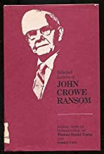 Selected Letters of John Crowe Ransom (Southern Literary Studies)