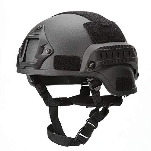 QZY US Army Mich Action Edition Helm, Outdoor Taktische Schutzhelm für Paintball, Airsoft, Radfahren, CS Ausrüstung,Black