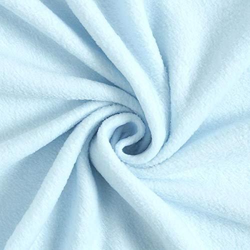 Antipilling Fleece – babyblau — Meterware ab 0,5m — zum Nähen von Tagesdecken, Decken und Homeaccessoires