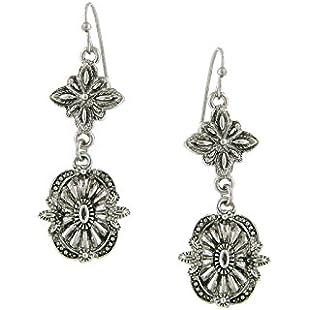 1928 Jewelry Silver-Tone Tailored Drop Earrings