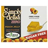 Simply Delish, Sugar-Free Jelly Dessert - Vegan, Gluten and Fat-Free, Peach Flavour - Pack of 24, Keto Friendly Sweets