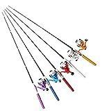 【オルルド釣具】ペン型ロッド & スピニングリール セット 「テトルドB2」 <軽量でコンパクトなポケット釣竿/仕舞寸法:21cm 伸長時:約100cm> 竿カラー: ブルー qb300079a05n0