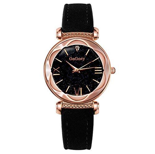 SJXIN Stilvolle Uhr GOGOEY prismatischen Zifferblatt Punkt Bohrmaschine Uhr Mode Damen Geschenk Tisch Modeuhren (Color : 1)