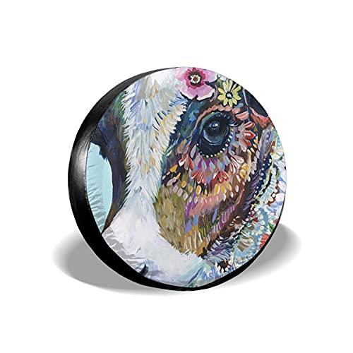 N\A Vaca Animal Colorida Moderna Cubierta de neumático de Repuesto Personalizada Cubierta de neumático de Rueda Adecuada para Todos los Coches