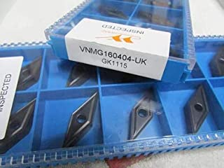 FINCOS carbide inserts VNMG160404-UK GK1115 Suitable for MVJNR Series Turning Facing External Lathe Tool