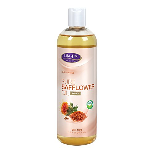 Life-Flo Pure Safflower Oil | Organic, Cold Pressed, Food Grade & No Hexane | For Skin & Hair, Aromatherapy, Massage Therapy | 16 fl. Oz