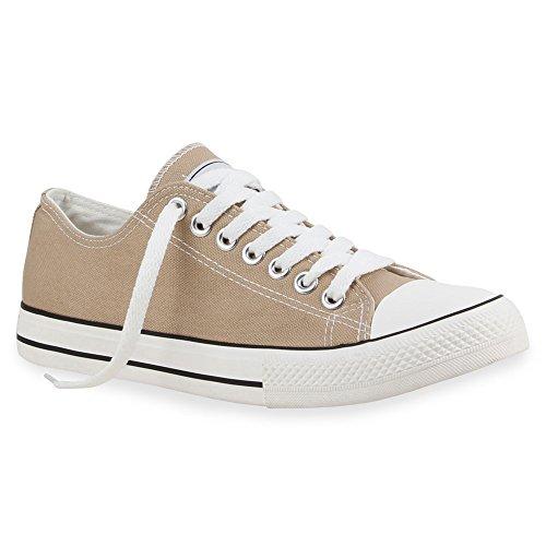 stiefelparadies Herren Schuhe Sneakers Sportschuhe Stoffschuhe Schnürer 54125 Khaki Ambler 42 Flandell