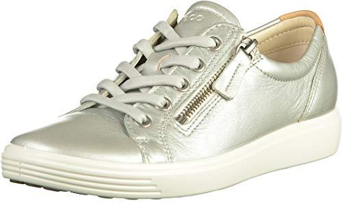 ECCO Damen Soft 7 Ladies Sneaker, Grau (Concrete Metallic 51382), 41 EU