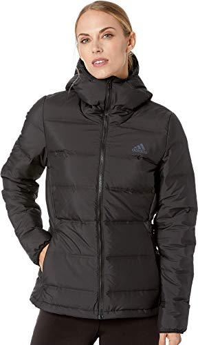 adidas Outdoor womens Helionic Down Hooded Jacket black Medium
