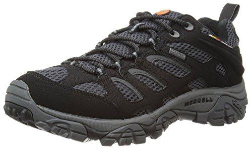 Merrell Moab Gore-tex Zapatos de Low Rise Senderismo para hombre, Negro, 40...