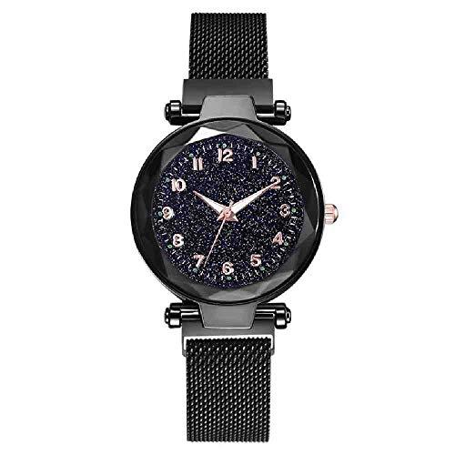 DSNGZ Reloj de Pulsera Relojes de Mujer Señora Magnética Cielo Estrellado Reloj Moda Diamante Mujer Relojes de Pulsera de Cuarzo
