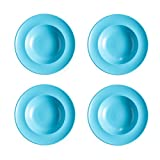 4 Piatti Pasta Piatto Piatto Fondo Gourmet in Porcellana di Alta Qualità,Blue