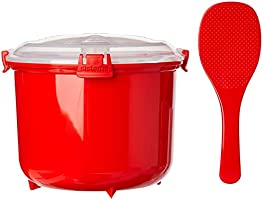 Sistema 1110ZS Microwave Rice Steamer, Red, 2.6L