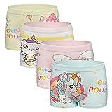 Ivenus 5er Pack Mädchen Unterhosen Gemischte Kinder Unterwäsche Baumwolle Unterwäsche Boxershorts 2-11 Jahre (Der fünfte im zufälligen Muster)